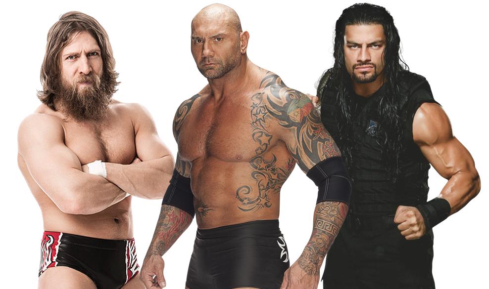 Batista & Daniel Bryan & Roman Reigns
