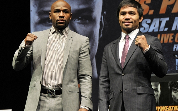 Floyd Mayweather v Manny Pacquiao boxing press conference, Los Angeles, America - 11 Mar 2015