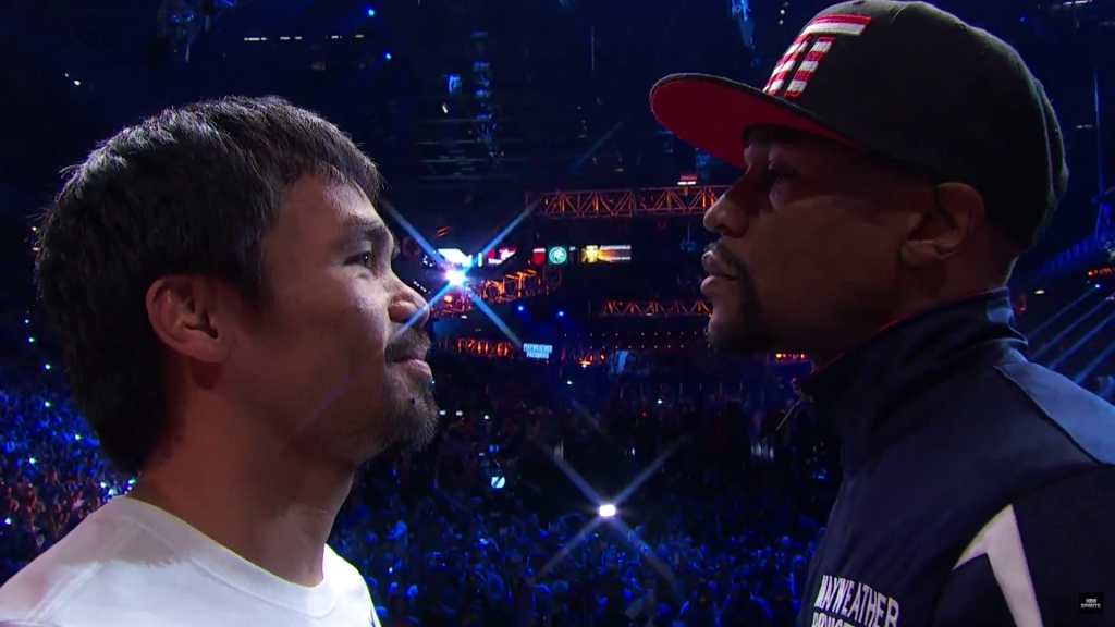 Pacman vs Floyd weigh in 1sy may