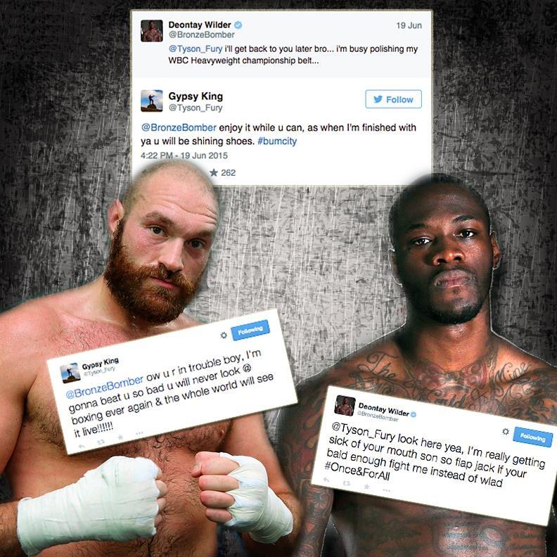 Deontay Wilder Ve Tyson Fury Twitter'dan Kavga Etti