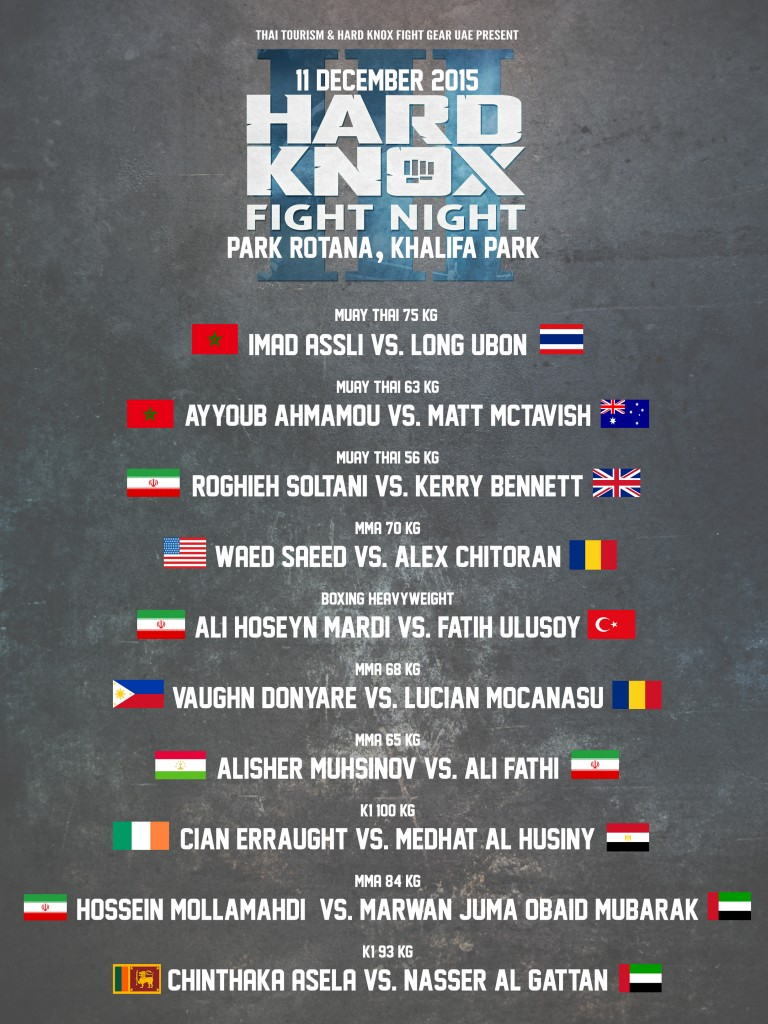 fightcard hard knox fight night