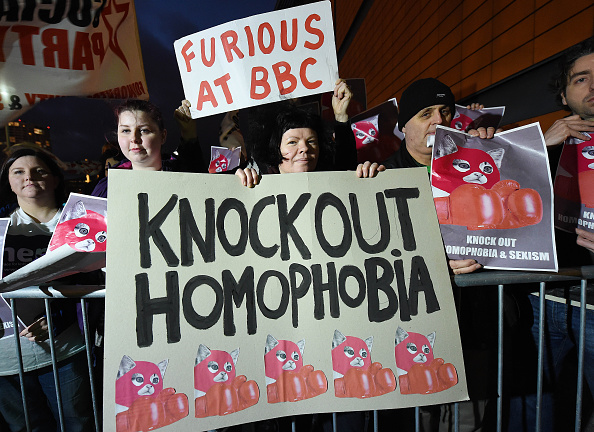 LGBT Groups Protest Outside The BBC Sports Personality Of The Year Awards