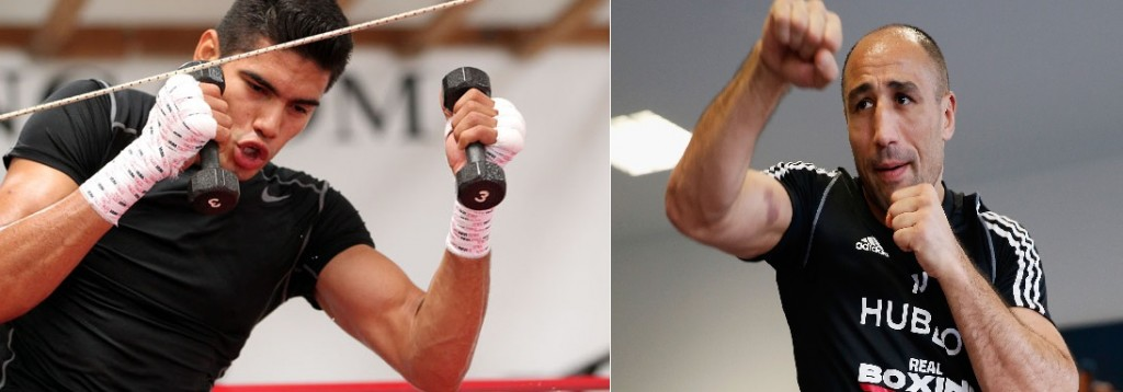 """June 2, 2015,Marina del Rey,Ca. --- Undefeated Mexican knockout artist and No. 2-world-rated super middleweight contender Gilberto """"Zurdo"""" Ramirez works out for his upcoming all-action card which he will headline on Friday, June 26, at State Farm Arena in Hidalgo, TX. Ramirez will be taking on DERECK """"The Black Lion"""" EDWARDS in a 10- round super middleweight bout which will be televised live on The MetroPCS Friday Night Knockout on truTV® at 10:00 p.m. ET. The live boxing series is presented by truTV and Top Rank®, and produced in association with HBO Sports®. Find truTV on YOUR TV: http://trutvishere.com/ Promoted by Top Rank and Zapari Boxing Promotions, in association with Nord Boxing Promotions and Zanfer Promotions, tickets to the Ramirez-Edwards boxing event are priced at $35, $25, $15, plus VIP tables of ten (10) at $800, $650 and $550, tickets can be purchased at the State Farm Arena box office, online at www.ticketmaster.com or by phone at (956) 843-6688. --- Photo Credit : Chris Farina - Top Rank (no other credit allowed) copyright 2015"""