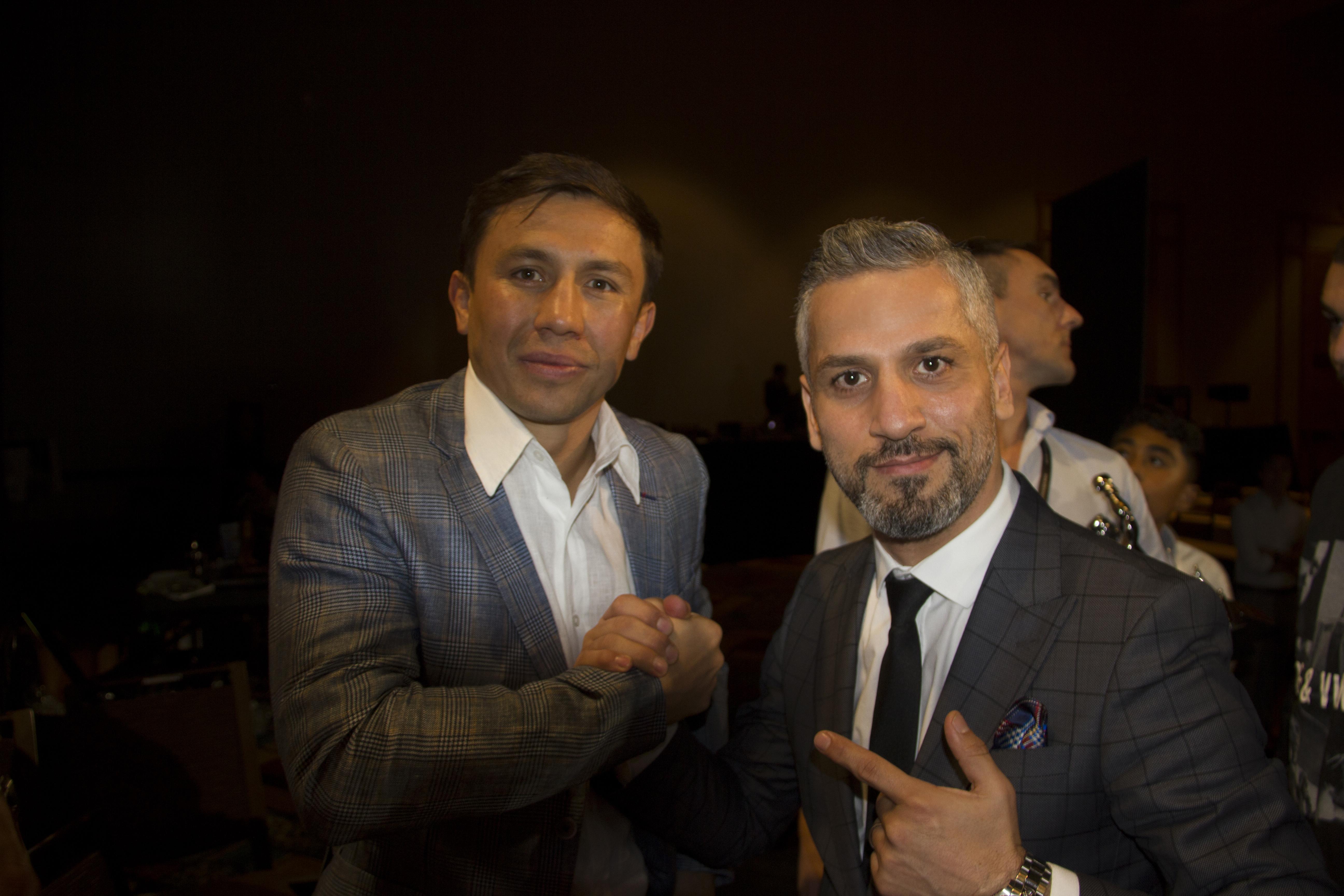 Golovkin WBC konvansiyonunda Bilgehan Demir'le böyle bir araya gelmişti